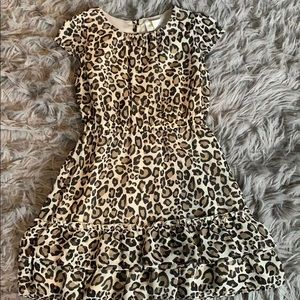 Leopard little girl dress